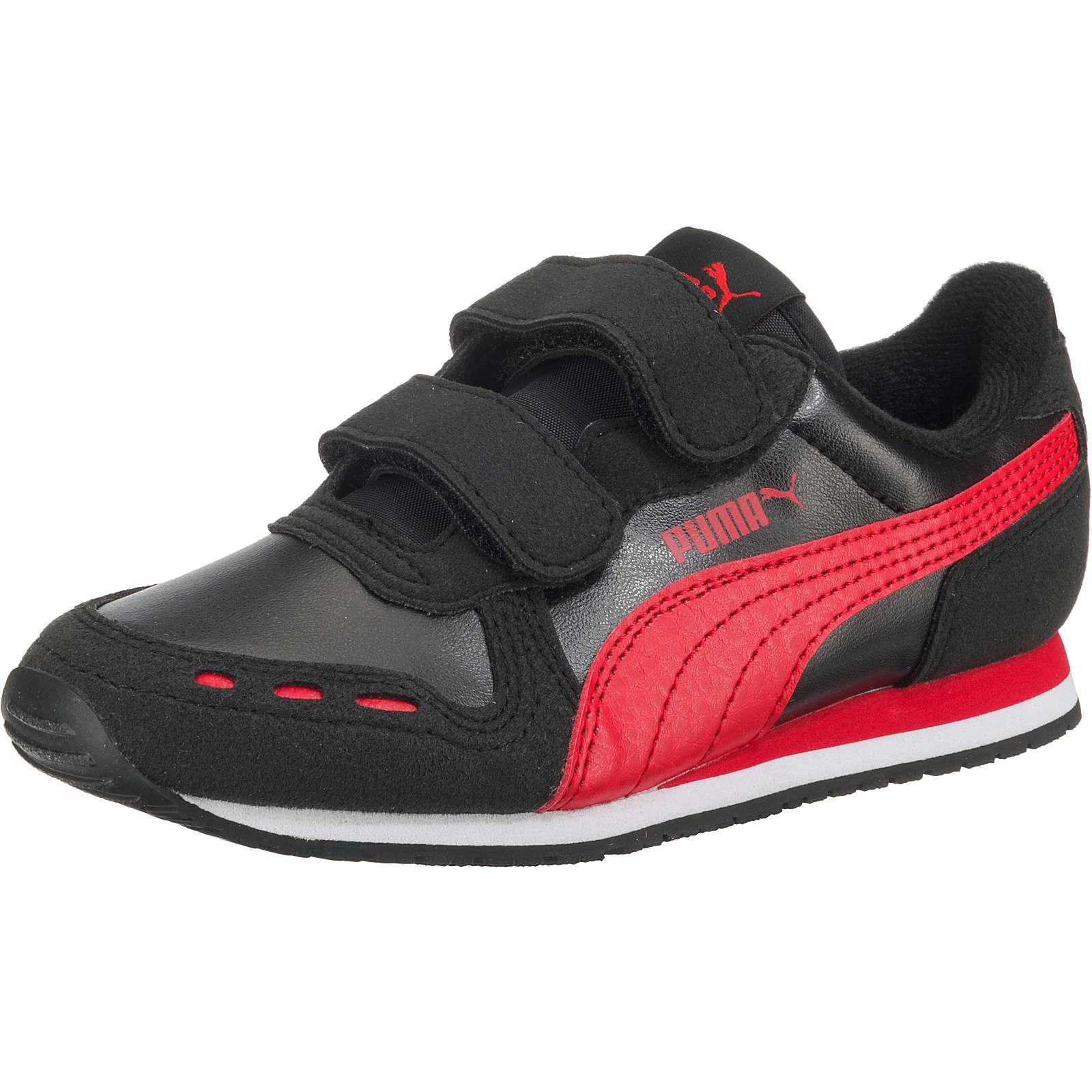 PUMA Kinder Sneakers Low CABANA RACER SL V PS schwarz Gr. 34
