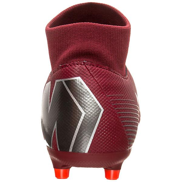 Nike Performance, Nike Mercurial MG Superfly VI Academy DF MG Mercurial Fußballschuh, grau/rot   0f10e5