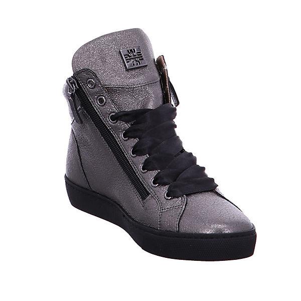 Högl, - Damen Stiefel - Högl, Glattleder in grau schimmernd - Swarovski Steine - 6-100361-6200 Schnürstiefeletten, grau Gute Qualität beliebte Schuhe f196e9