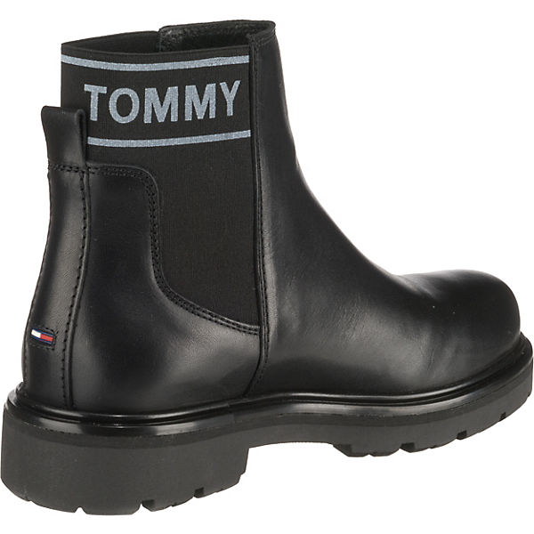 Chelsea Chelsea Schwarz Tommy Jeans Boots Tommy Jeans SBFqx7p