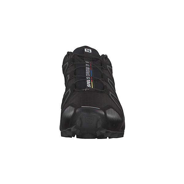 Salomon, Trail Running-Schuhe Speedcross 4 Wide schwarz-kombi mit Sensifit™ Technologie 402373, schwarz-kombi Wide  Gute Qualität beliebte Schuhe f25c6a