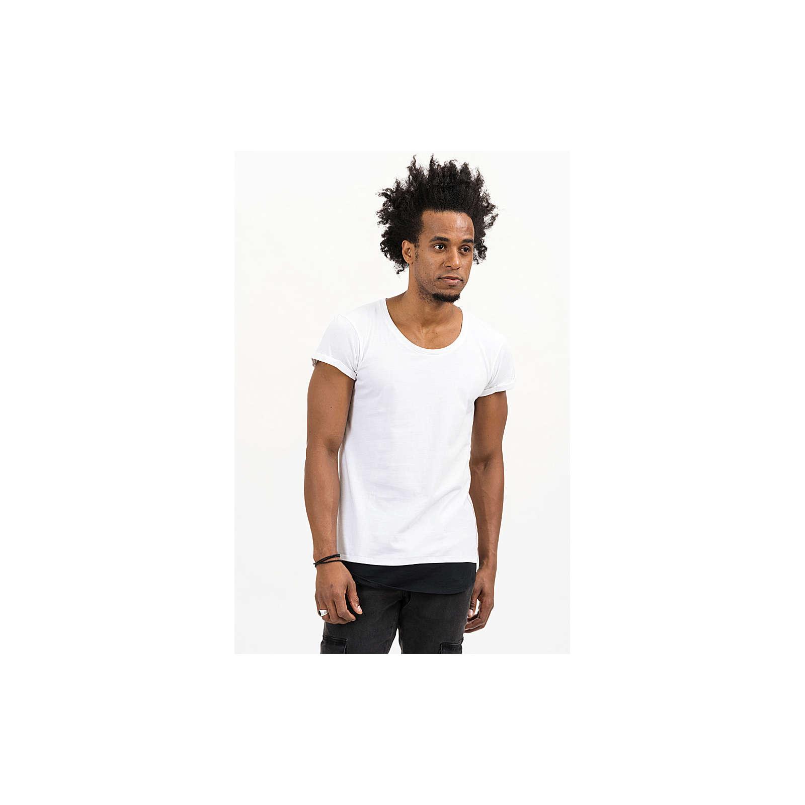 trueprodigy® T-Shirt Jace mit Kontrastnähten weiß Herren Gr. 54