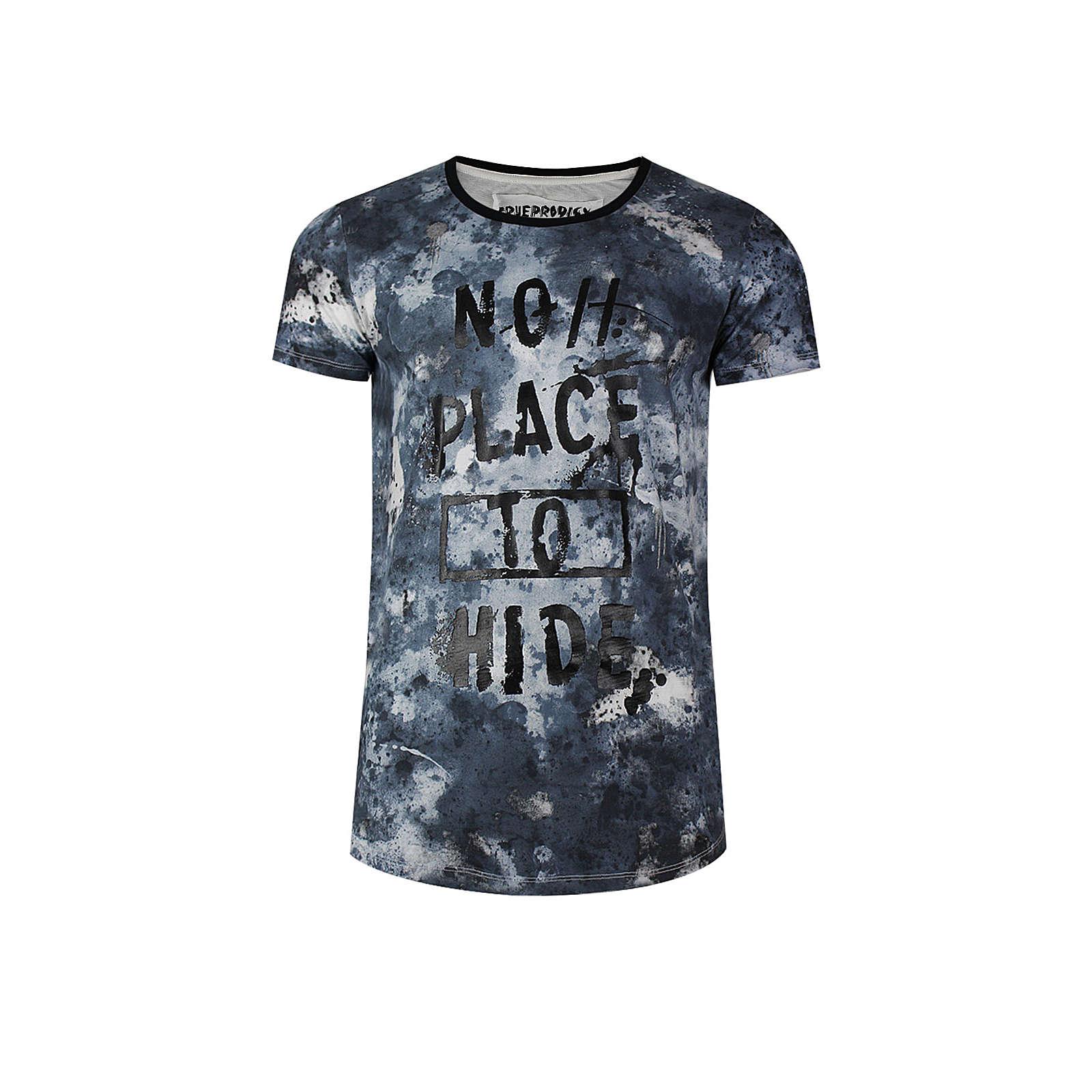 trueprodigy® T-Shirt No Place 2 Hide mit Frontprint dunkelblau Herren Gr. 54