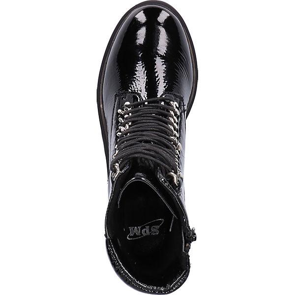 SPM, Stiefelette Schnürstiefeletten, schwarz  Schuhe Gute Qualität beliebte Schuhe  25d4d5
