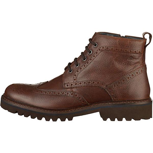 Sioux, Stiefelette Schnürstiefeletten, dunkelbraun  Gute Qualität beliebte Schuhe