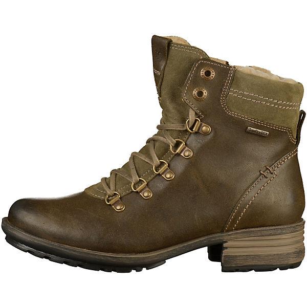 Josef Seibel, Gute Stiefelette Schnürstiefeletten, khaki  Gute Seibel, Qualität beliebte Schuhe e881ee