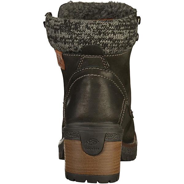 Dockers by Gerli, Stiefelette Qualität Schnürstiefeletten, schwarz  Gute Qualität Stiefelette beliebte Schuhe bd22b4