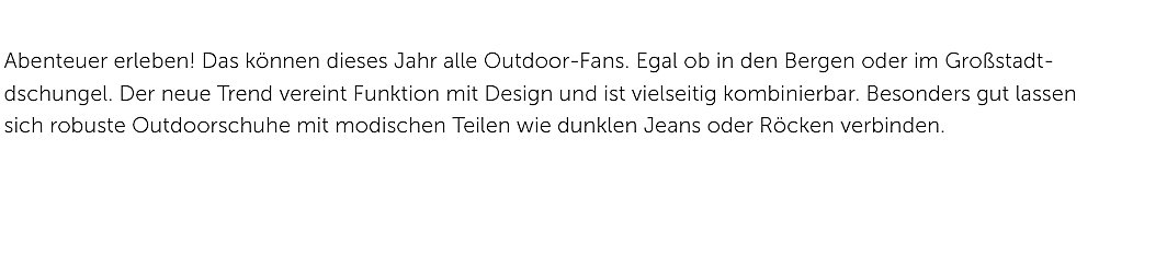 Trend Damen Outdoorschuhe