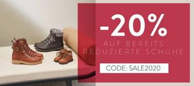 20% скидка на уже уменьшенную обувь