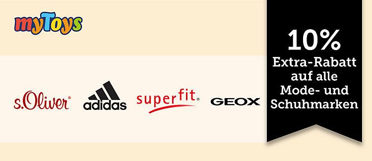 20% Extra Rabatt auf Sportmode und Sportschuhe im MyToys Shop